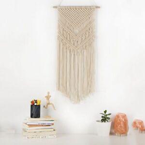 Macrame-Woven-Wall-Hanging-Boho-Handmade-Chic-Bohemian-Home-Geometric-Art-Decor
