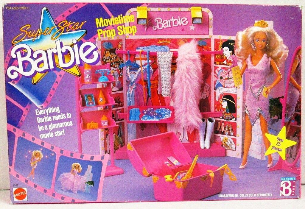 Super Star Barbie MOVIETIME Prop Shop Conjunto de Juego (Nuevo)