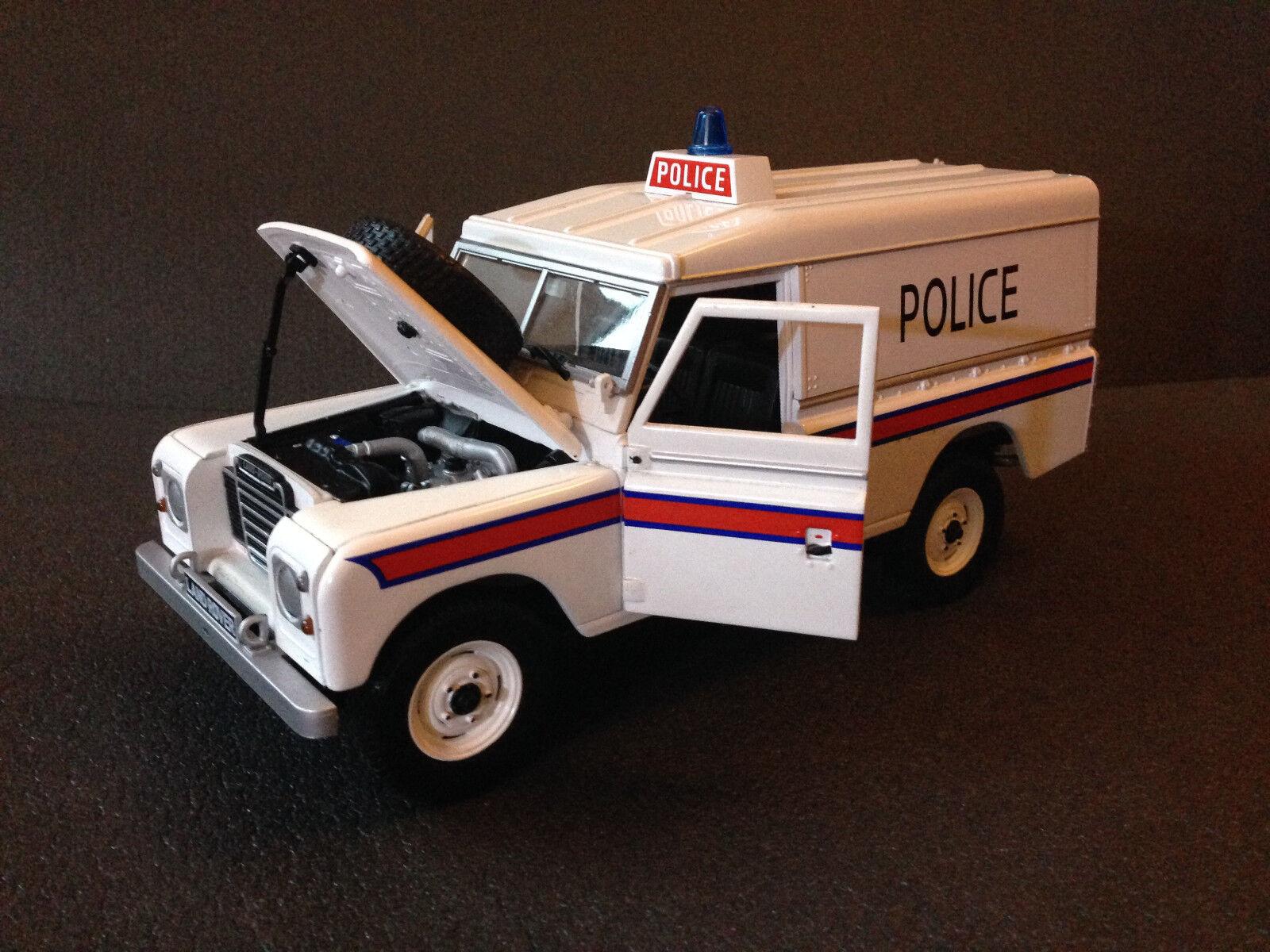 Land Rover Series II III 109 UK Police policía rara vez universal hobbies 1 18
