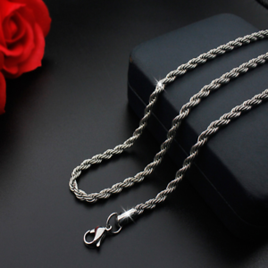Hot-man-women-316L-Stainless-Steel-2mm-3mm-4mm-5mm-Silver-Rope-Chain-Necklace