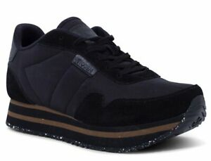 WODEN Sneaker NORA II PLATEAU Schwarz WL1750-020 Echtleder Textil Damen