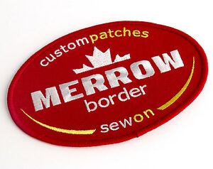CUSTOM PATCHES, Merrow Border, Sew On, Sizes: 2 - 5 inches