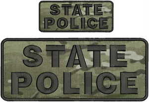 """POLICE embroidery patches 4x10/"""" and 2x5 hook on back multicam"""