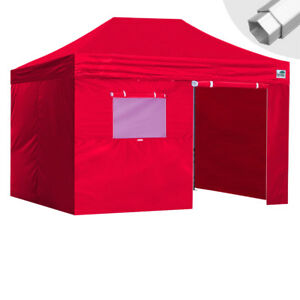 timeless design 99a70 ee3f7 Details about Eurmax Ez Pop Up Professional Canopy 10x15 Tent Patio Shade+4  Walls & Roller Bag