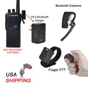 4e8d5170cb9 Bluetooth Ear Hook Earpiece Mic 2 Prong Connector for MOTOROLA Two ...
