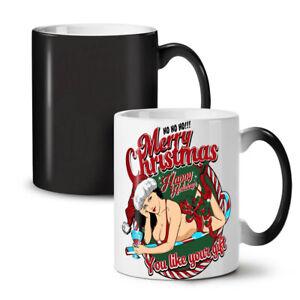 Sexy Santa Girl NEW Colour Changing Tea Coffee Mug 11 oz | Wellcoda