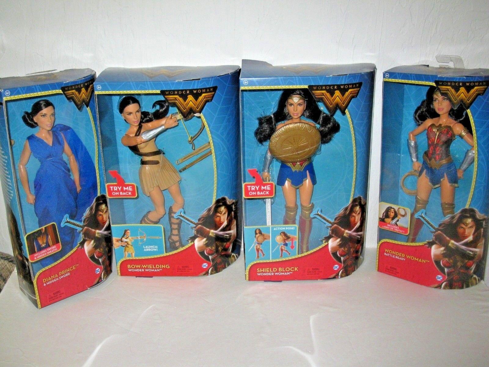 Mattel - wonder woman & diana prinz puppensammlung 4 puppen neue