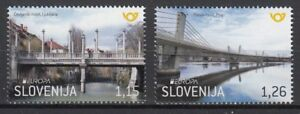 SLOVENIA 2018 EUROPA CEPT.BRIDGES .Set 2 ST MNH