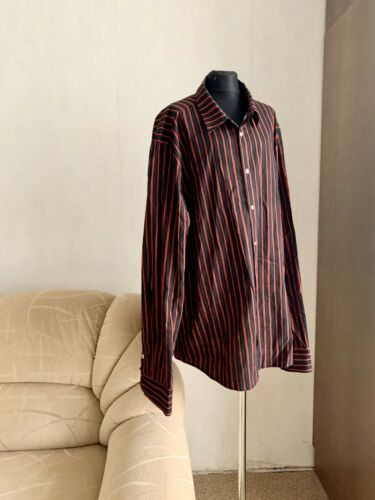 Marimekko Jokapoika brown striped shirt with butto