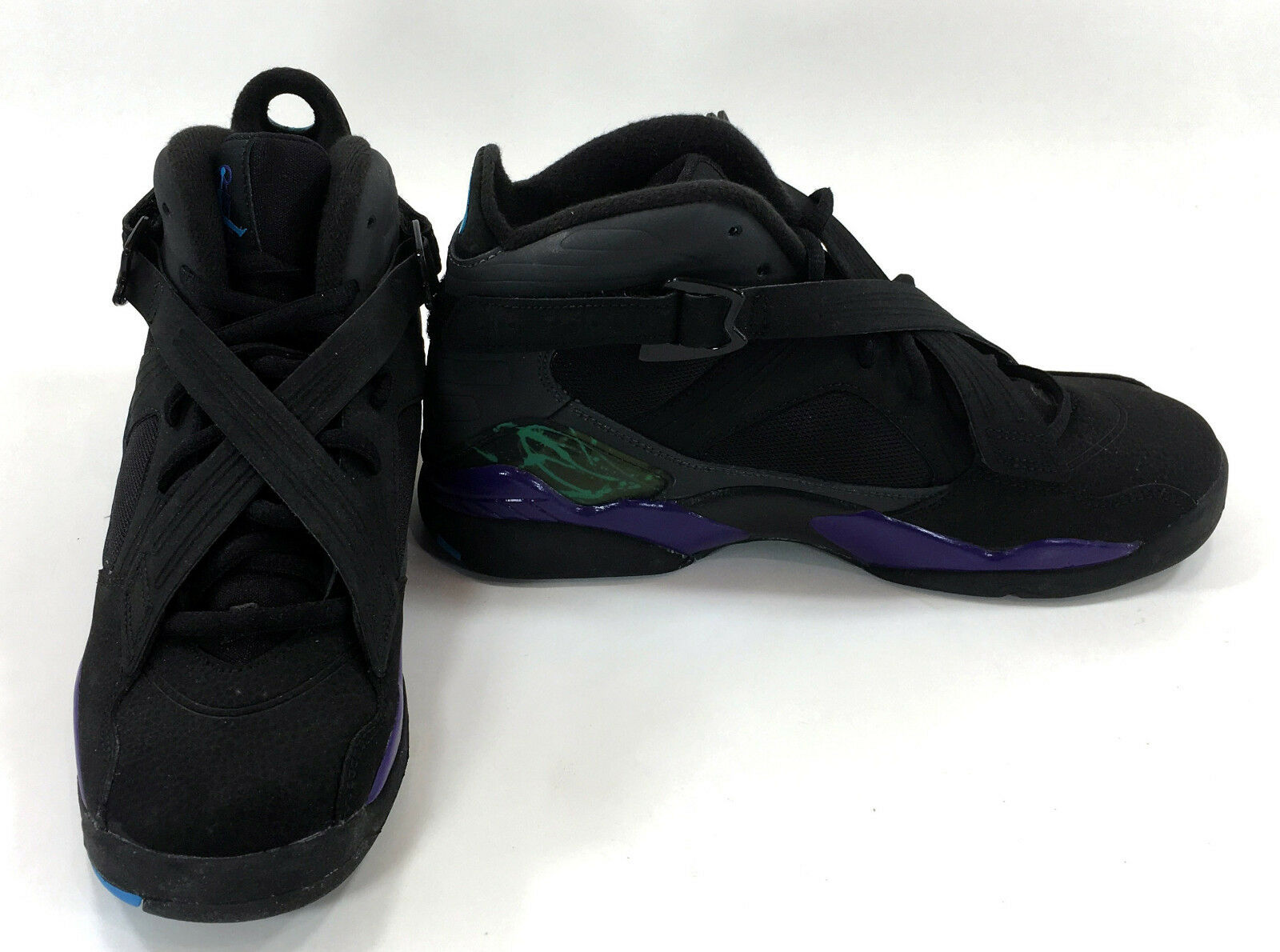 Nike shoes Air Jordan VIII 8 Black Aqua Anthracite Sneakers Mismatch 6 6.5