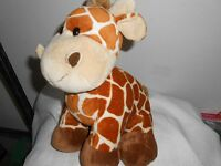 Kellytoy Kelly Toy Plush 10 Baby Tan Brown Rust Giraffe Lovey Chunky Chubby