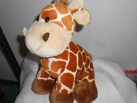 Kellytoy Kelly Toy Plush 10 Baby Tan Brown Rust Giraffe Lovey Chunky Chubby