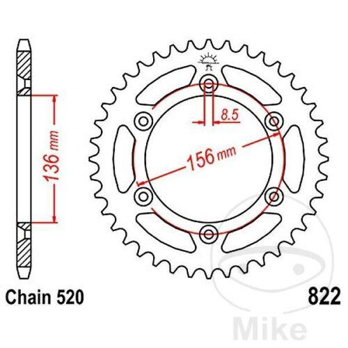 JT Rear Sprocket 41T 520P JTR822.41 Steel Husqvarna SMR 511 2012