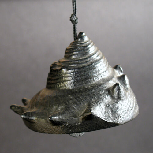 Vintage Japanese Iron Figural  Bell//windchime A Conch Shell