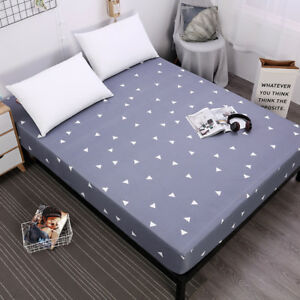 Printed Waterproof Mattress Cover Protector Fitted Bed