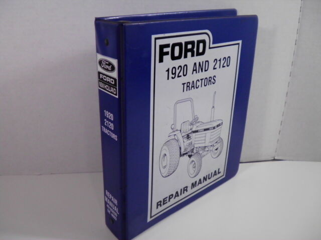 Ford    New Holland 1920 2120 Tractor Service Shop Repair