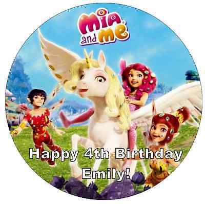 A4 PERSONALISED MIA AND ME 1 EDIBLE FONDANT WAFER CAKE TOPPER