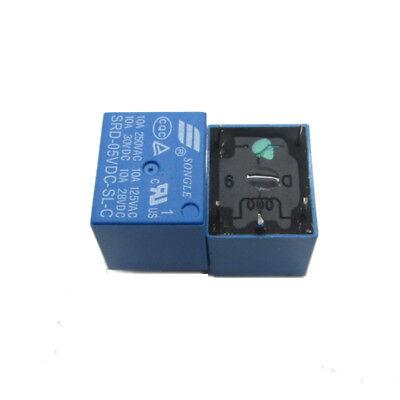 5V DC SPDT 5 Pins Plastic Coil Power PCB Relay 30V DC - 250V AC - 10A