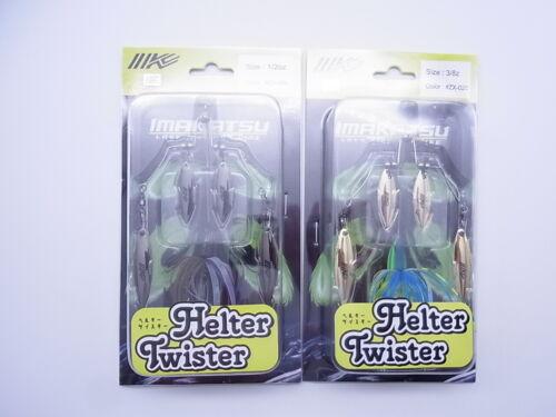 Details about  /2021 New Lot of 2 Imakatsu Helter Twister 1//2oz/&3//8oz BLK Raven /& Blue Chart NIP