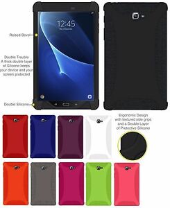 AMZER-Silicone-Soft-Skin-Jelly-Case-Cover-Galaxy-Tab-A-10-1-2016-SM-T580-T585