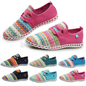 Men Flats Espadrilles Canvas Shoes Loafers Athletic Knitted Casual Plims