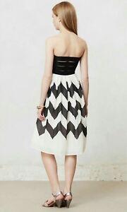 52c1365d8d027 Image is loading Anthropologie-cherie-chevron-dress-leifnotes-black-white -strapless-