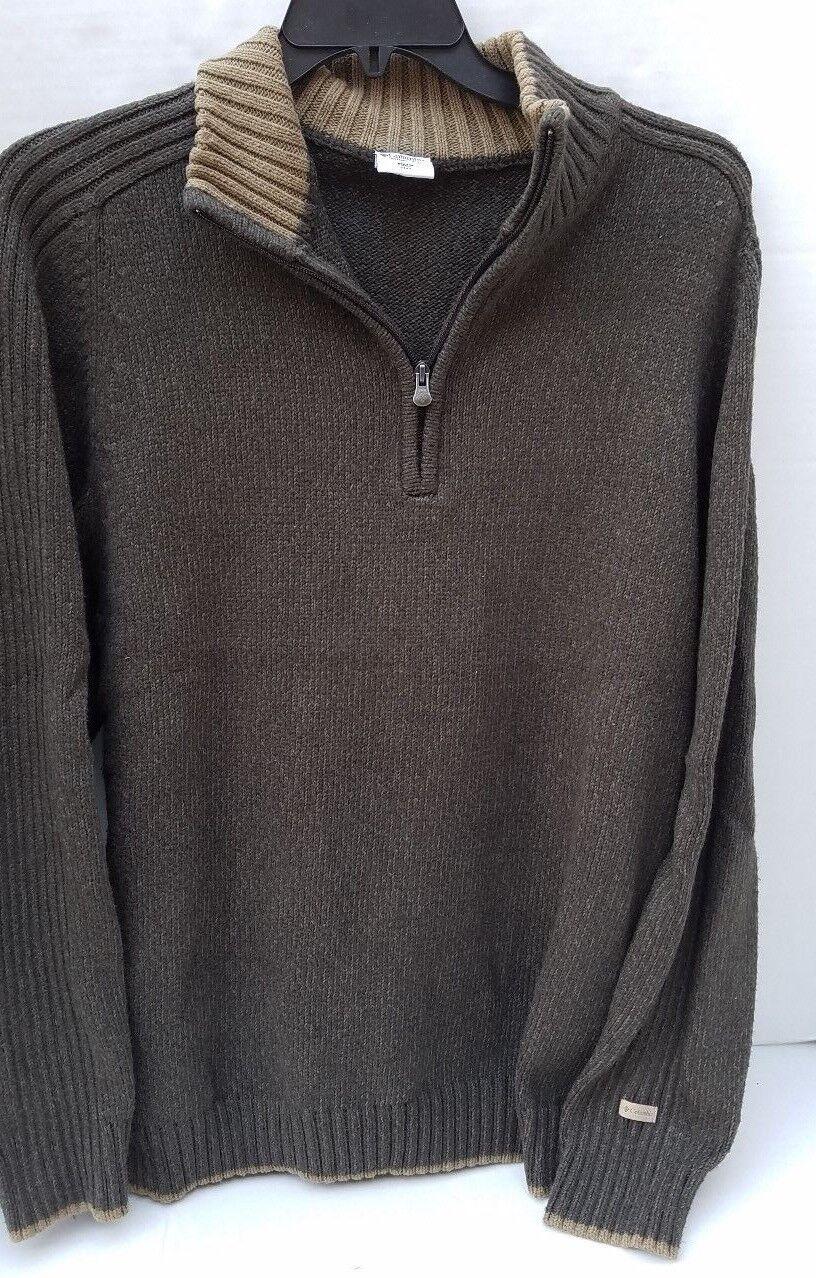 Columbia Sportwear Mens Big Sweater 1 2 Zip Army Green XXL 2XL