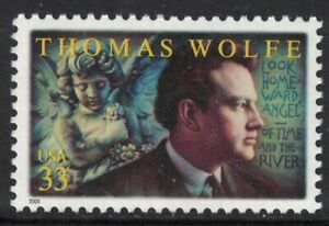 Scott-3444-Thomas-Wolfe-Writer-MNH-33c-2000-unused-mint-stamp