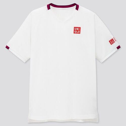 UNIQLO MEN Roger Federer 2020 Australian Open  Dry EX V Neck Shirt 426624