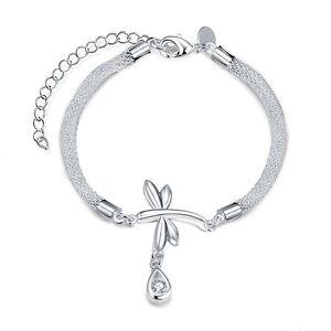 Damenarmband-Flechtarmband-Schmetterling-Zirkonia-20cm-pl-mit-Sterlingsilber