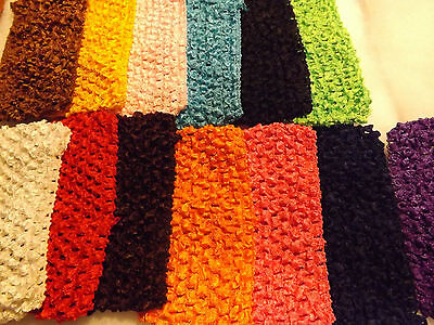 14 pcs Girls Baby Crochet Headband With 6 inch Acrylic color Pick up