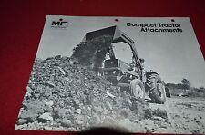 Massey Ferguson Compact Tractor Attachments Dealer's Brochure DCPA