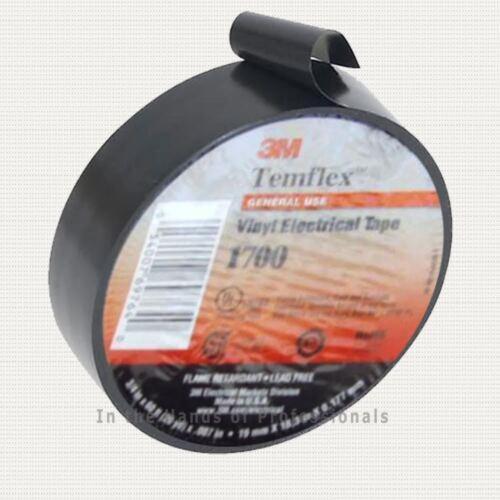 "3M TEMFLEX BLACK 1700 3//4/""x60/' Vinyl Electrical Tape free shipping"