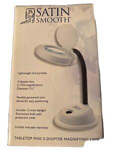 Satin Smooth Tabletop Mini 3-diopter Magnifying Lamp