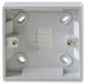 1 Gang 16mm Single Surface Mount Pattress Back Box Wall Socket Plug Switch Deep