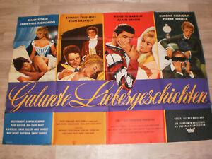 A0 Filmplakat  GALANTE LIEBESGESCHICHTEN , BRIGITTE BARDOT,ALLAIN DELLON,D ROBIN