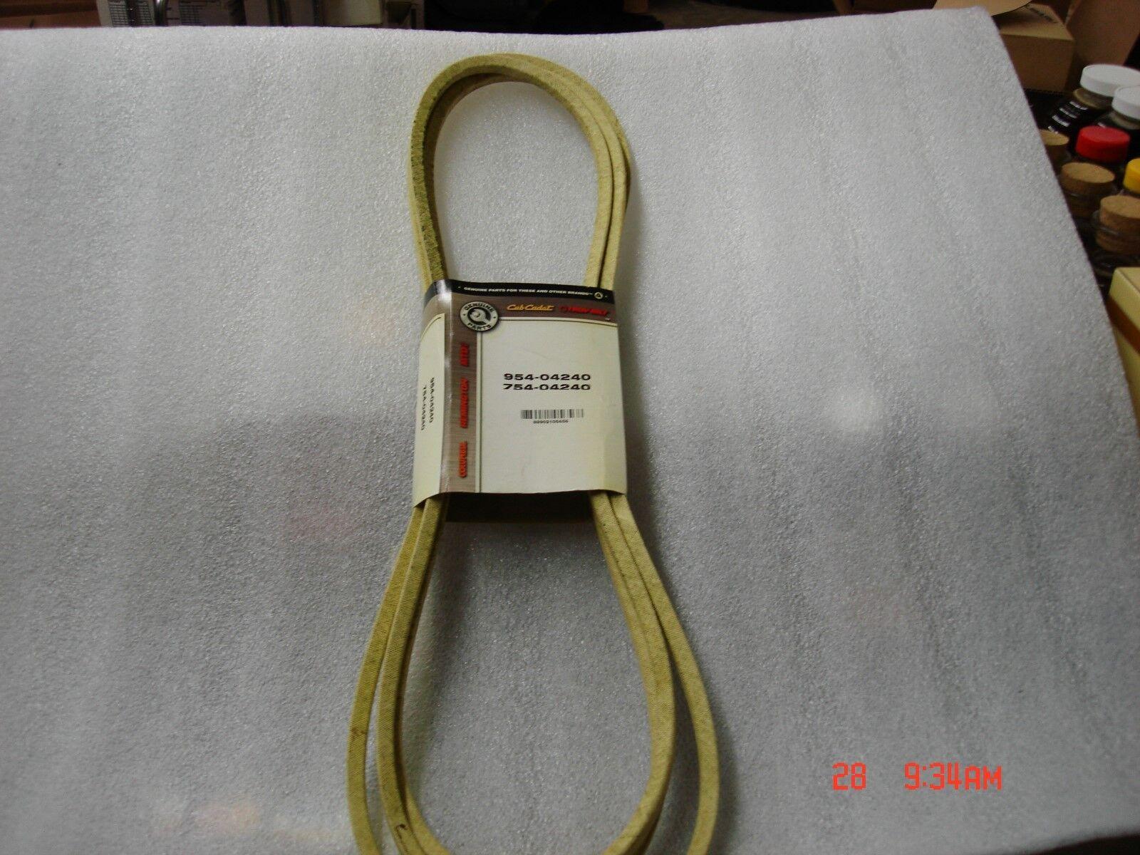 CUB CADET, MTD, TROYBILT 954-04240OR 754-04240 Cubierta Cinturón, OEM Original