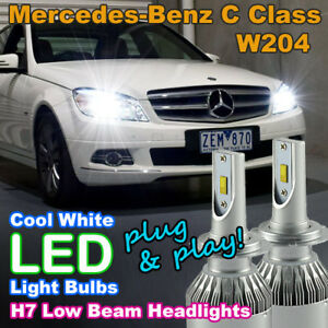 Details about #M74 Canbus H7 LED Headlight Bulbs to suit Mercedes-Benz C  Class W204 Low Beam