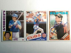 Topps-Larry-Bowa-Auto-Lot-Autograph-Signed-Cards-Cubs-Padres-1984-1985-1988