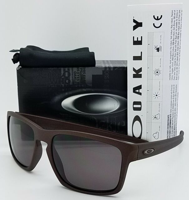 779b15ff247 NEW Oakley Sliver sunglasses Corten Warm Grey AUTHENTIC burgundy red 9262-30
