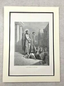 1870-The-Crucifixion-di-Cristo-Antico-Stampa-Gesu-Presentato-To-The-Persone