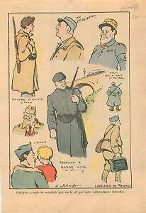 """Croquis Uniformes Militaires Poilus Soldats Mobilisés Officier de Reserve 1938 - France - Commentaires du vendeur : """"OCCASION"""" - France"""