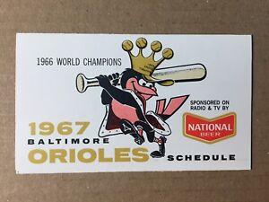 1967-Baltimore-Orioles-LETTER-ENVELOPE-POCKET-SCHEDULE-Lot-3-Items-FRANK-CASHEN