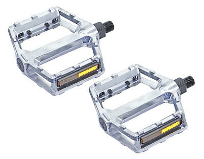 """Bicycle VP-Style Alloy Pedals 1//2/"""" Silver. New"""