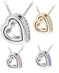 Collana-Donna-Cuore-SWAROVSKI-anello-idea-regalo-valentino-Top-Bracciale