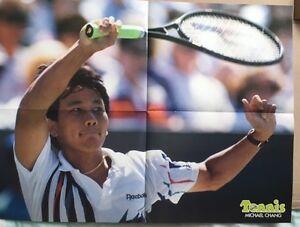 MICHAEL-CHANG-Original-Vintage-French-Tennis-Magazine-Poster