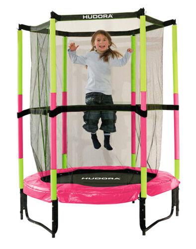 Hudora 65609 Kindertrampolin Mädchen Kinder Trampolin Jump in 3.0 Pink Indoor