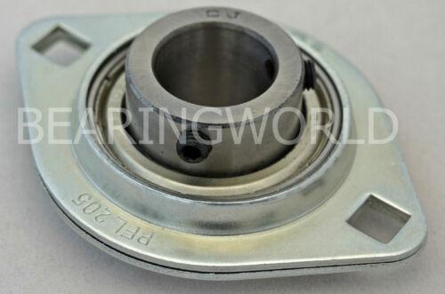 "SBPFL207-22 High Quality 1-3//8/"" Set Screw Pressed Steel 2-Bolt Flange Bearing"