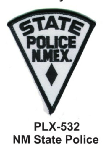 """NM STATE POLICE EMBROIDERED PATCHES  4/"""" STATE POLICE"""