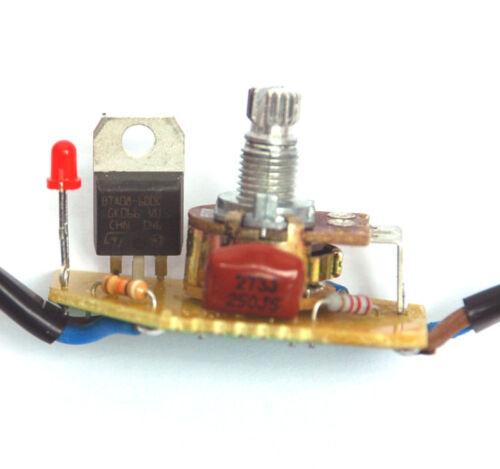 10 Radiateur//éclairage lampe variateur DC-309 Noir AC110V 250 W résistance de charge fil